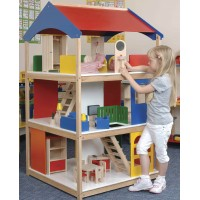 Giant Dolls House with Furniture and Dolls