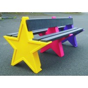 6 Person Double Sided Star Bench