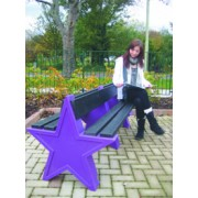 8 Person Double Sided Star Bench