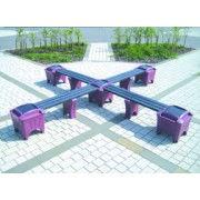 Cross Shape Modular Bench