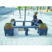 Square Shape Modular Bench