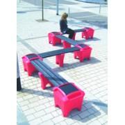 E Shape Modular Bench
