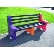 3 Person Single Multicoloured Seat