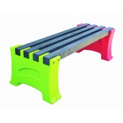 2 Person Single Multicoloured Bench