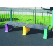 3 Person Single Multicoloured Bench