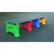 4 Person Single Multicoloured Bench