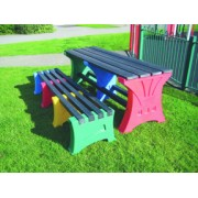 8 Person Bench Set