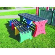 8 Person Bench Set