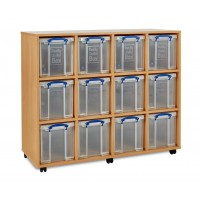 12 x 24 Litre Really Useful Box Storage Unit