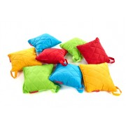 Small Quilted Outdoor Cushions - Set of 5