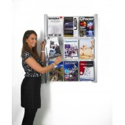 Metropolitan Leaflet Holders Wall Mounted