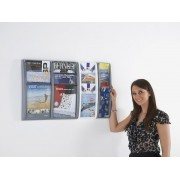 Panorama Leaflet Holders Wall Mounted 1/3 A4 Double