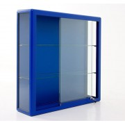 Glass Display Showcases Anodised Silver Wall Cabinet with Sliding Door