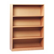 Open Bookcase with 1 Fixed and 2 Adjustable Shelves