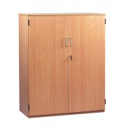 Stock Cupboard with 1 Fixed and 2 Adjustable Shelves with Lockable Door