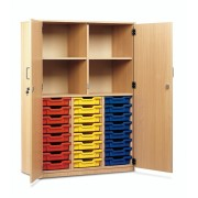 24 Tray Unit with Full Lockable Doors