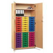 48 Tray Unit with Lockable Doors