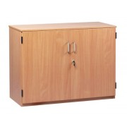 Stock Cupboard with 2 Adjustable Shelves with Lockable Doors