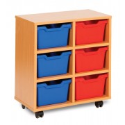 6 Cubby Tray Unit
