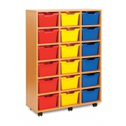 18 Cubby Tray Unit